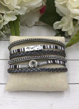 White and Gray Mini Snap Magnetic Bracelet