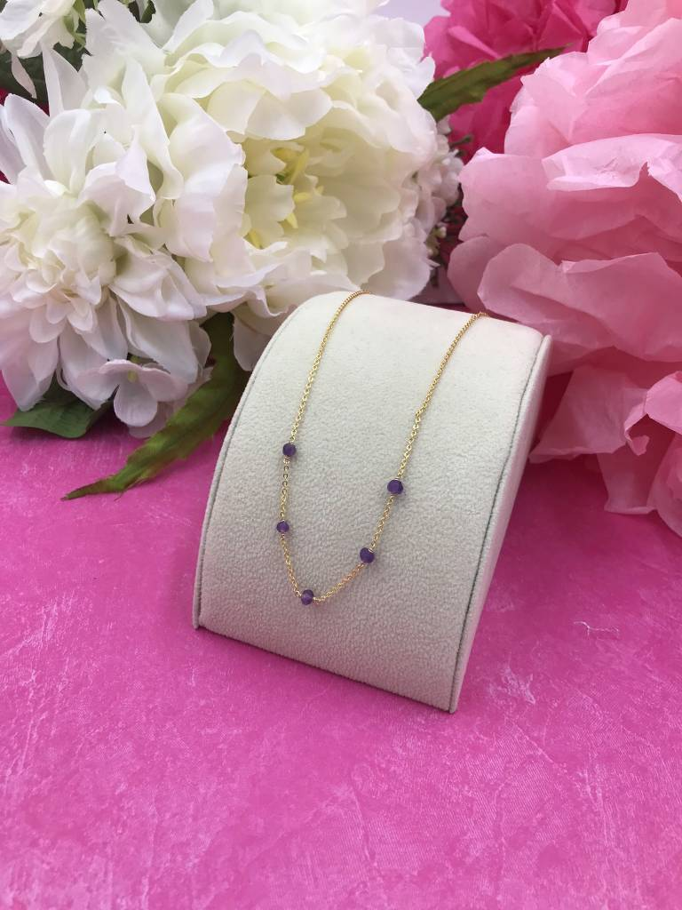 14K Gold Filled Amethyst Unity Necklace