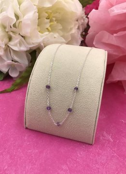 Sterling Silver Amethyst Unity Necklace