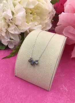 Sterling Silver Triple Labradorite Necklace