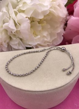 Qualita in Argento Italian Sterling Silver Adjustable Bracelet