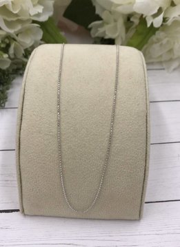 Qualita in Argento Italian Sterling Silver 18inch Faceted Bead Chain