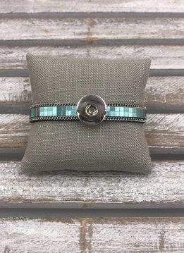 Snap Teal Bracelet