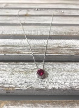 July Birthstone Necklace