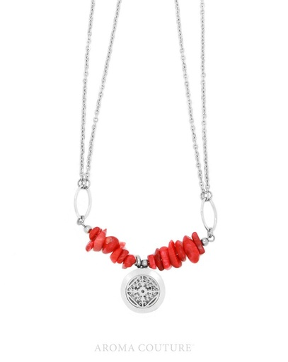 Adelle Red Jase Diffuser Necklace 16
