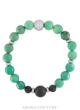 Aroma Couture Chrysoprase Lava Diffuser Bracelet M/L
