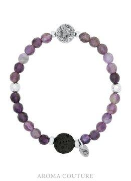 Druzy Amethyst Lava Rock Diffuser Bracelet