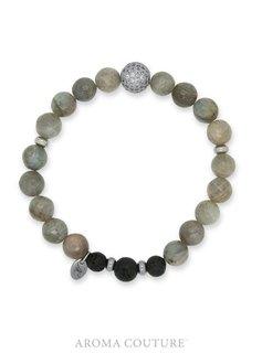 Labradorite Lava Rock Diffuser Bracelet