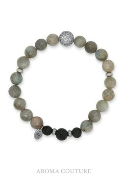 Aroma Couture Labradorite Lava Rock Diffuser Bracelet