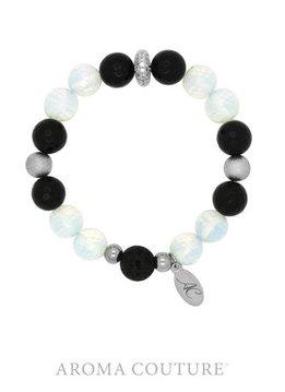 Onyx and Opalite Lava Rock Diffuser Bracelet