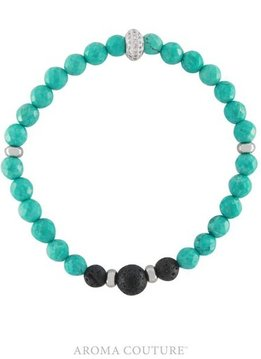 Aroma Couture Stackable Turquoise Lava Rock Diffuser Bracelet