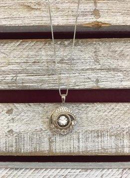 Sterling Silver Circle Dancing Diamond