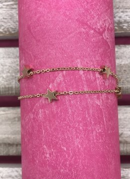 Rose Gold Star Anklet Stainless Steel