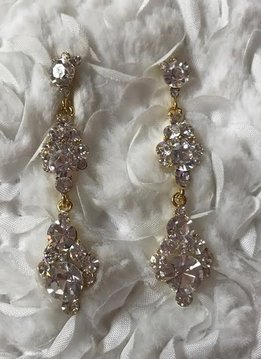 Gold Dangling Swarovski Crystal Earrings