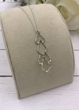 Sloane Sterling Silver Deco Pattern Long Necklace