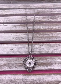 Snap Heart Necklace