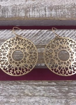 Round Filigree Gold Earrings
