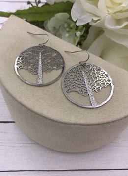 Silver Filigree Tree Earrings