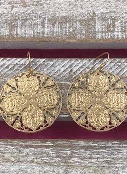 Gold Filigree Clover Earrings