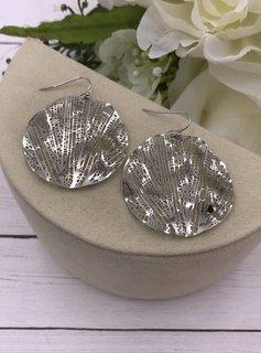 Silver Filigree Ripple Earrings