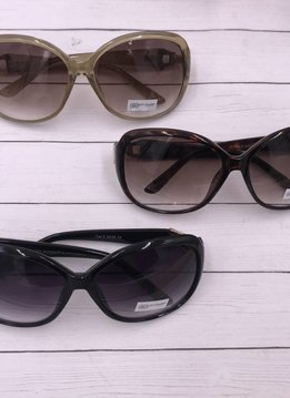 Oval Sunglasses with Gold and Rhinestone Detail