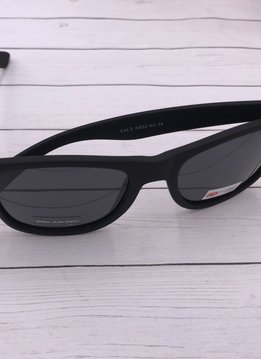 NYS Matte Black Polarized Wayfarer Sunglasses