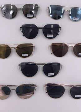 Cateye Metal Frame Sunglasses