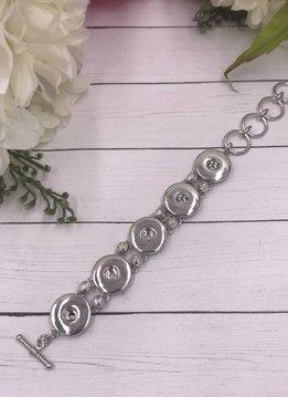 Snap 5 Silver Bracelet