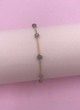 14k Gold Filled Labradorite Unity Bracelet