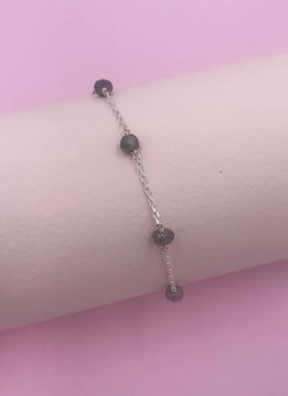 Less is More Sterling Silver Labradorite Unity Bracelet