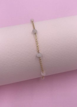 Less is More 14k Gold Filled Moonstone Unity Bracelet