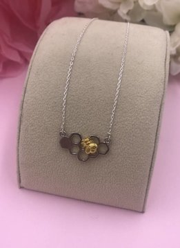 Less is More Sterling Silver Beehive Necklace