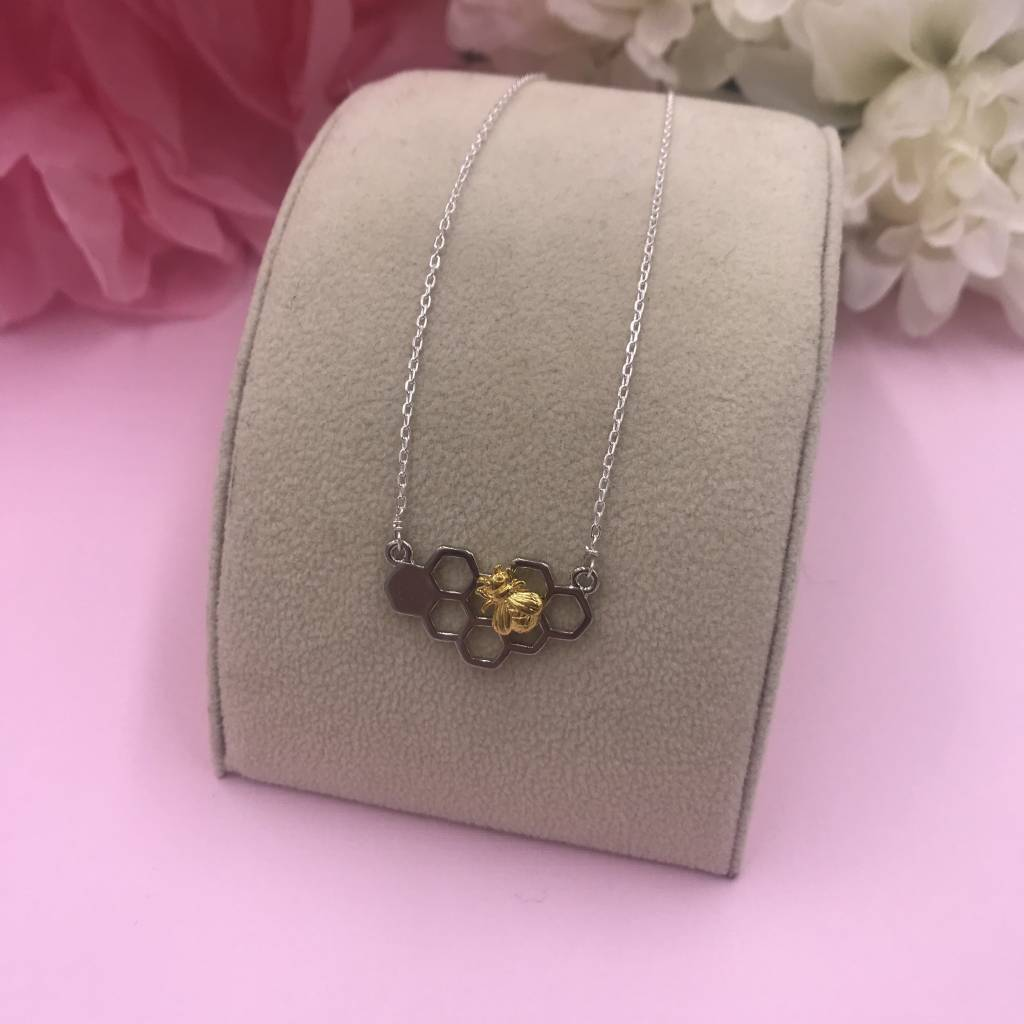 Sterling Silver Beehive Necklace