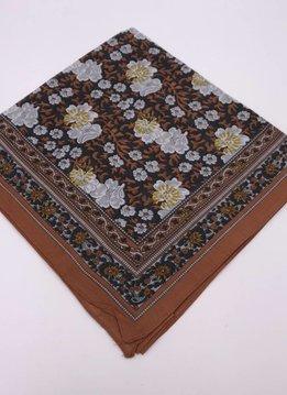 Camel Floral Garden Bandana Handkerchief Scarf