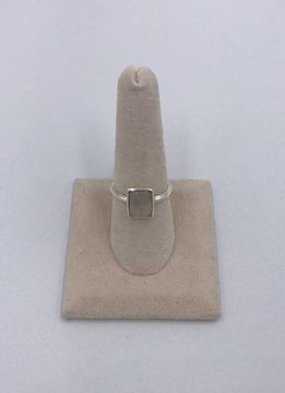 Sterling Silver Square Moonstone Ring Size 8