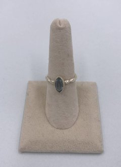 Sterling Silver Blue Topaz Ring Size 7