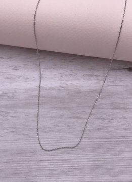 Italian Sterling Silver Cable 18 inch Chain Necklace