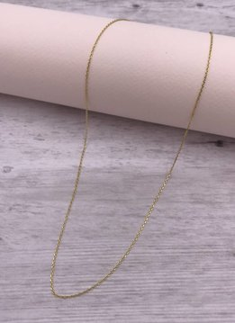 Qualita in Argento Italian Sterling Gold Plated 20 inch Chain Necklace