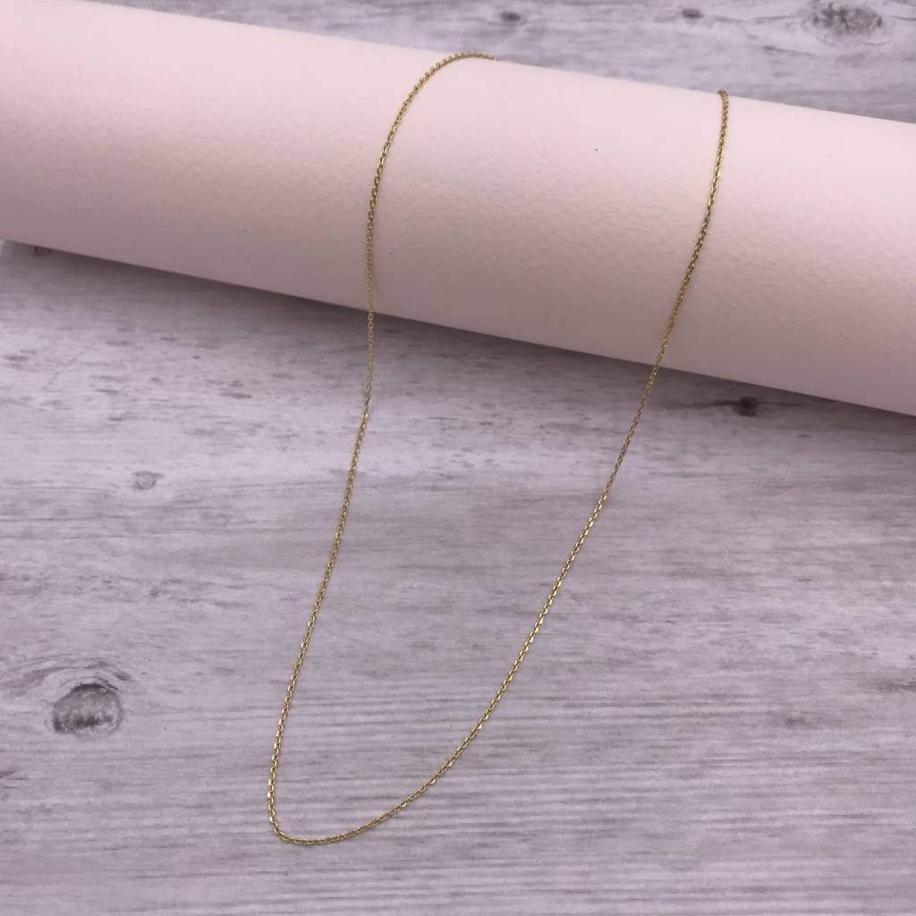 Italian Sterling Gold Plated 20 inch Chain Necklace