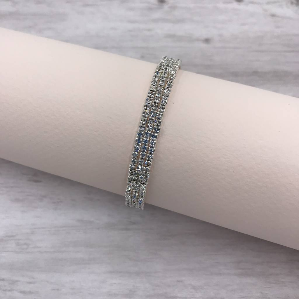 silver and clear rhinestone cuff bracelet it s a bling thing