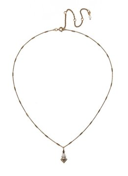 Sorrelli Antique Gold Pointed South Necklace in Clear Crystal