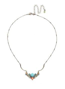 Sorrelli Antique Silver Cassia Necklace in Vivid Horizons