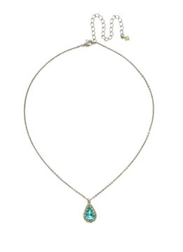 Sorrelli Antique Silver Arum Necklace in Vivid Horizons