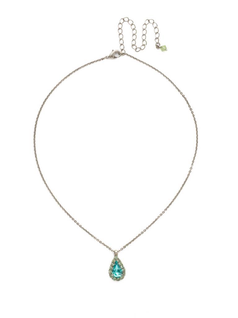 Sorrelli Antique Silver Arum Necklace in Vivid Horizons