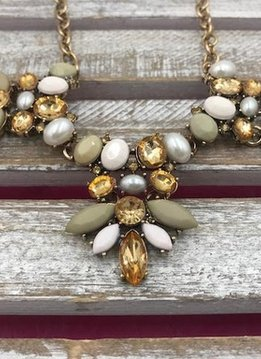 Gold Neutral Statement Necklace