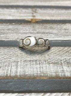 Shiva Shell Thin Ring Size 6