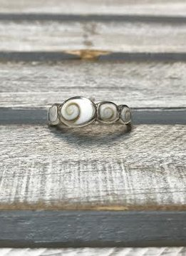 Shiva Shell Thin Ring Size 6