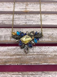 Gold Necklace with Jewel Pendant