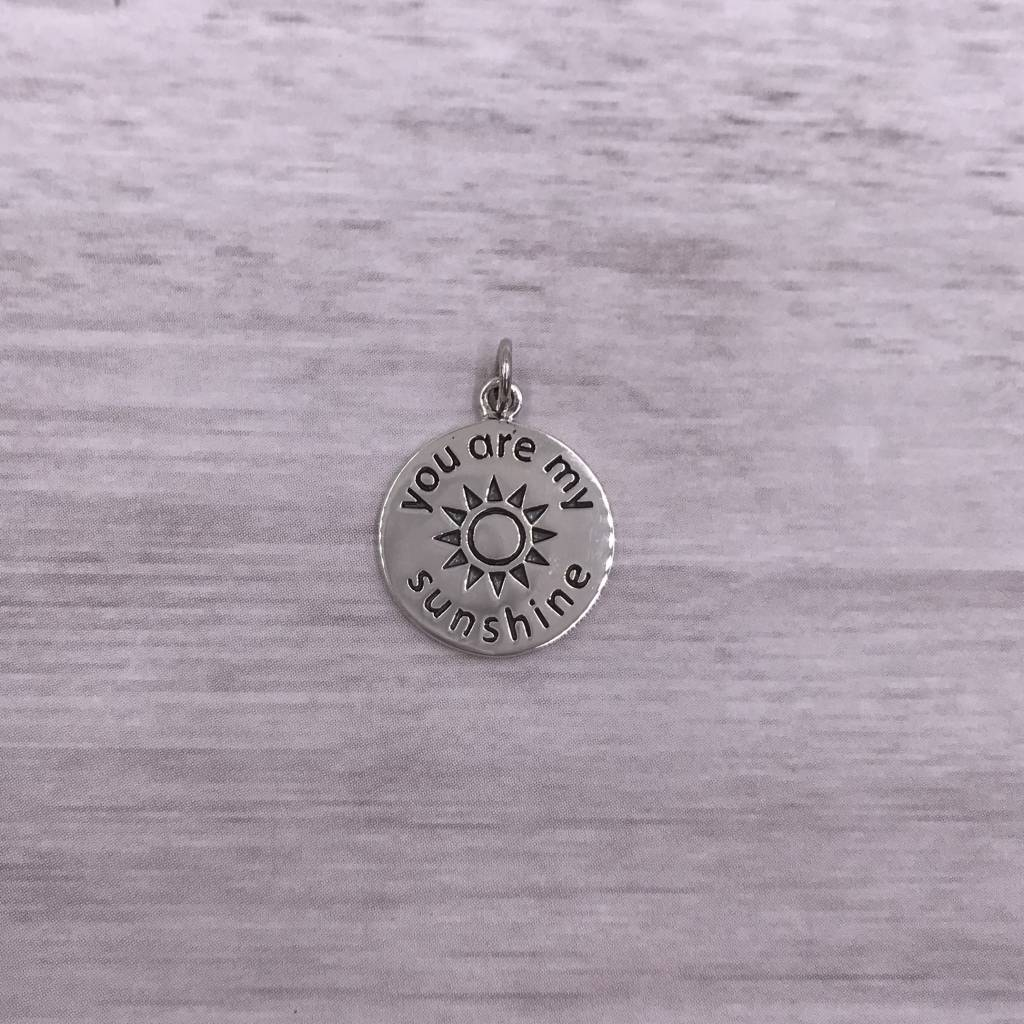 "Sterling Silver ""You Are My Sunshine"" Charm"