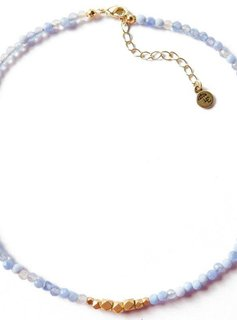 Lenny & Eva SPEAK THE TRUTH. Jerry Gemstone Choker, Blue Lace Agate